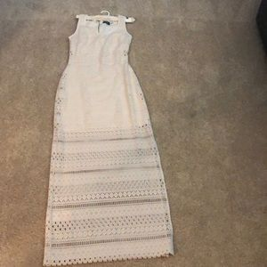 A long cream colored guess dress